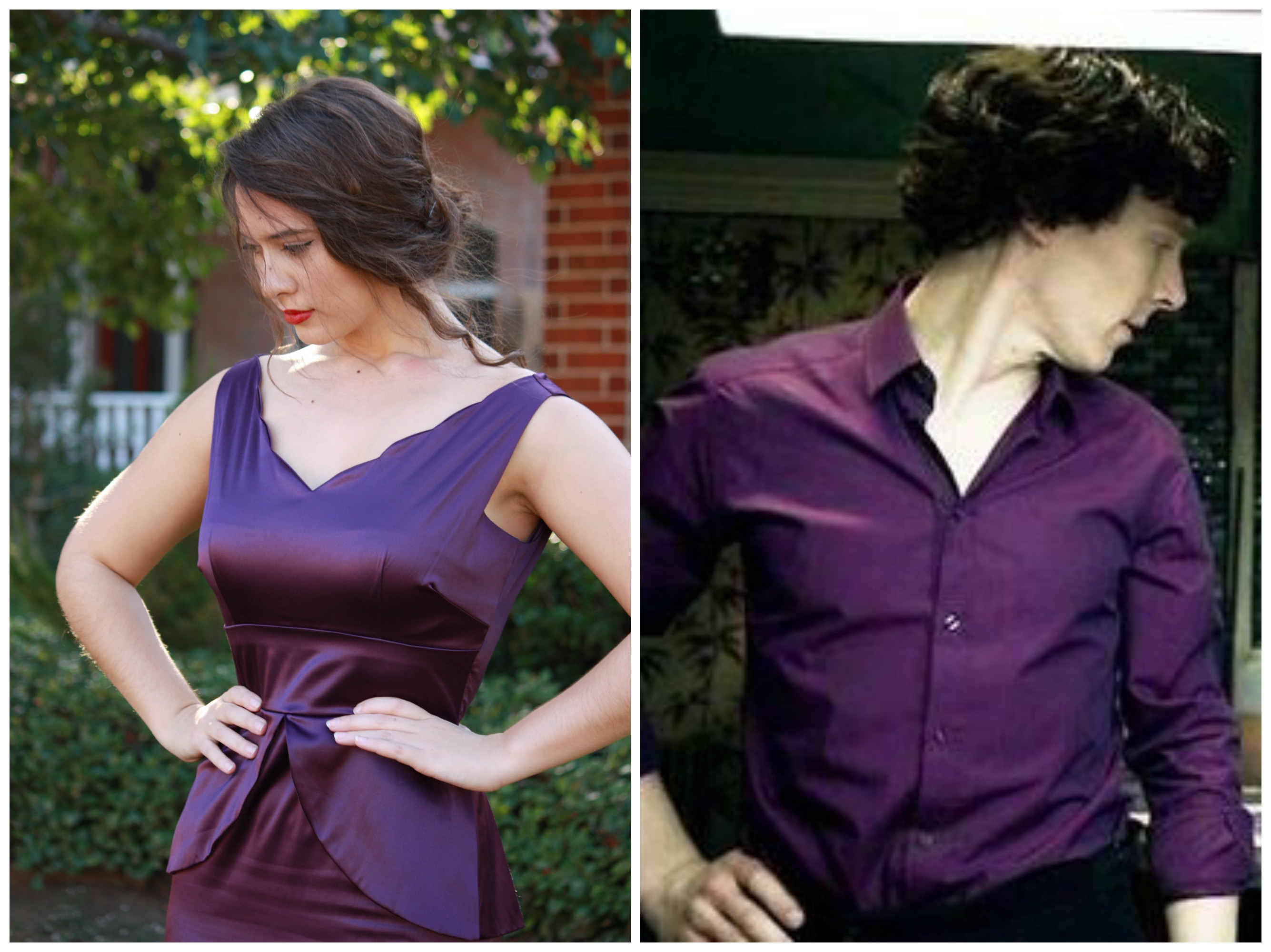 Purple shirt of sexiness